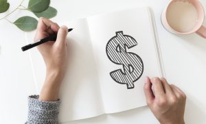 marketing dollar sign mobile app