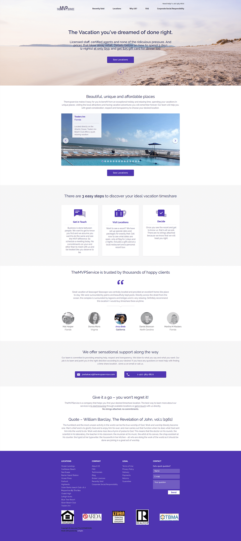 The MVP Services Mockup 1