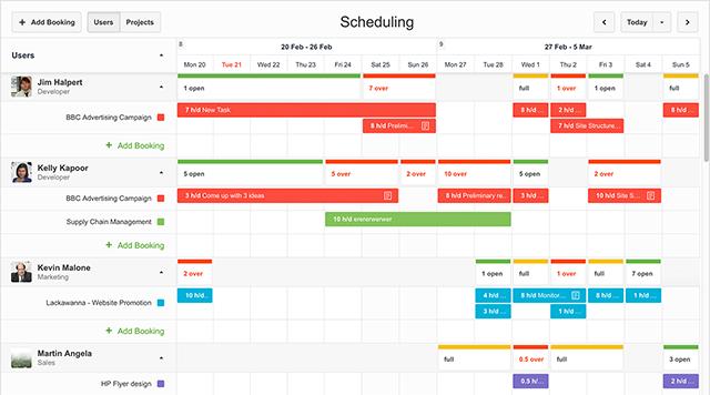 work scheduling paymo
